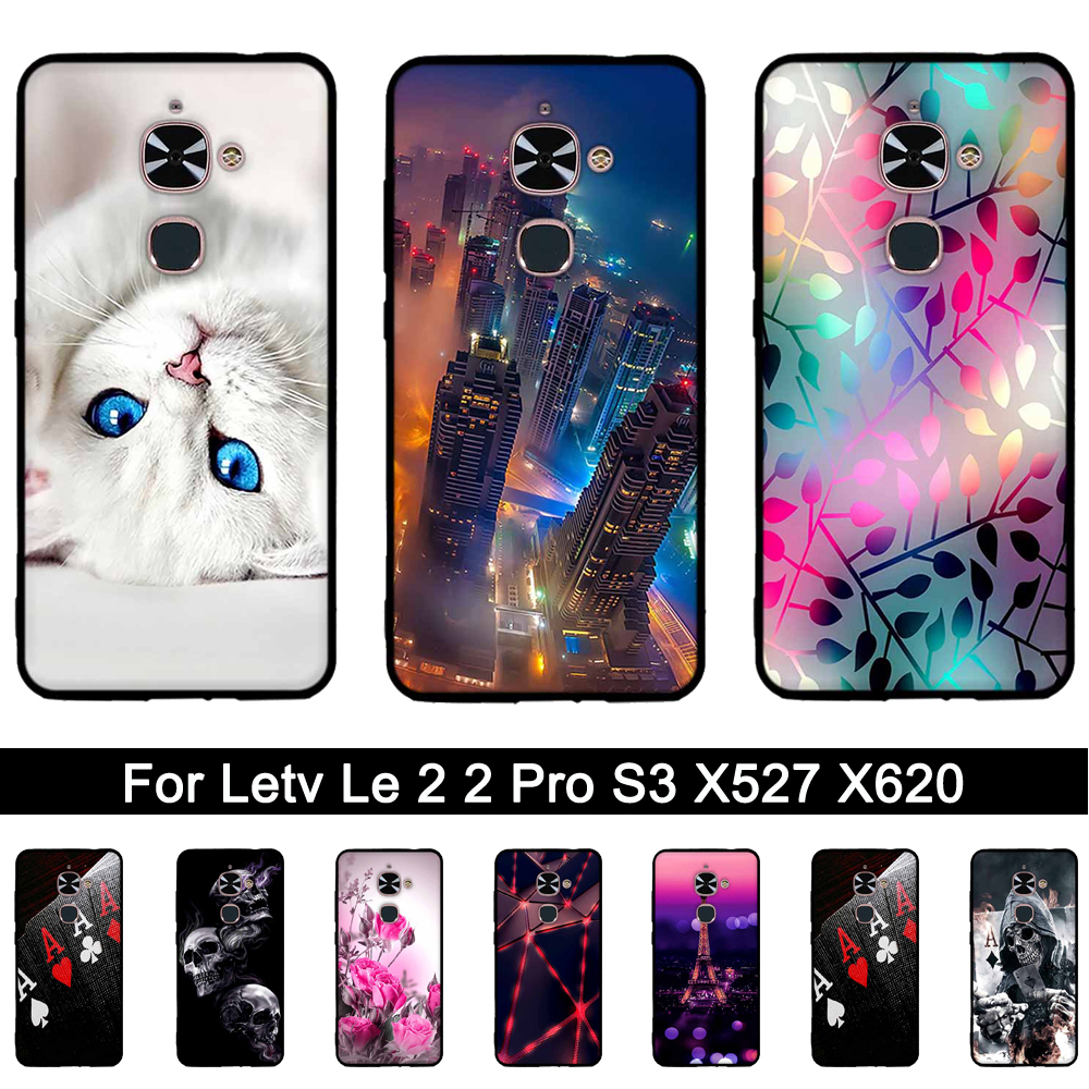 3D Relief Soft TPU Case For Letv Le Phone Cases Print Shells Bags