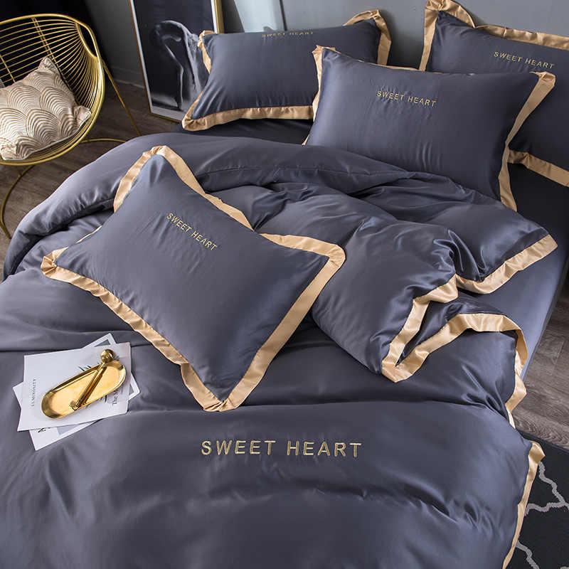 ホームテキスタイル寝具セット大人の寝具セットベッドホワイトブルーグリーンピンク布団カバーキルトカバー簡単な寝具布団