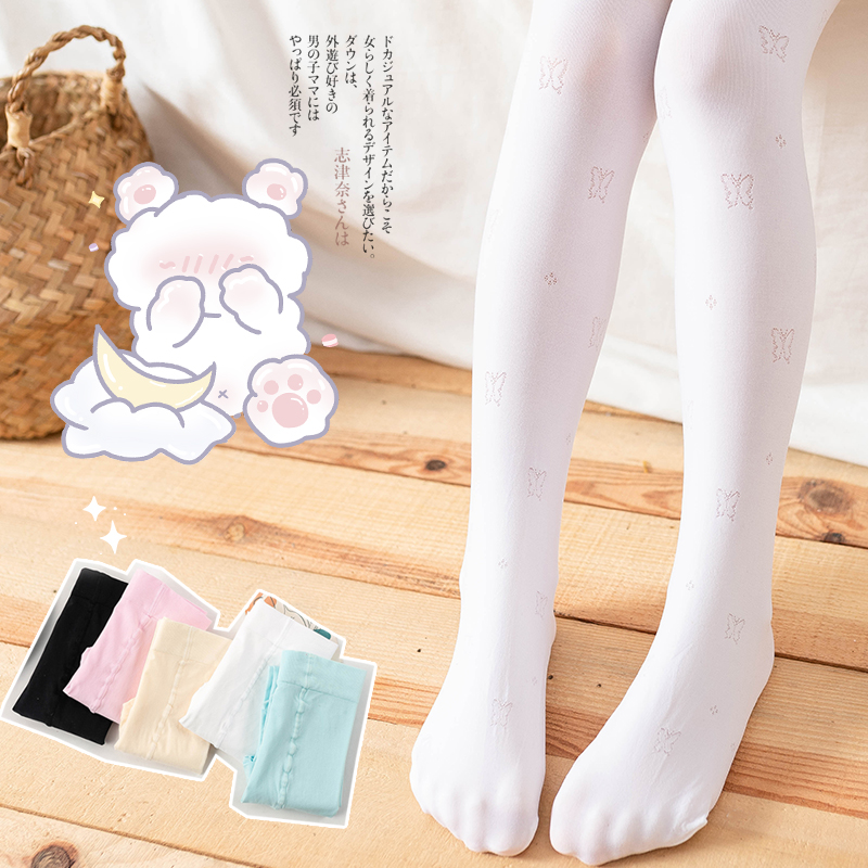 Spring/summer child embroidered tights for baby girls kids Hollow butterfly pantyhose stockings for Ballet dance toddler tights