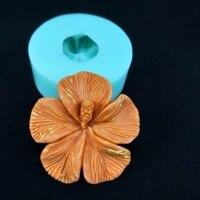 PRZY HC0174 실리콘 금형 Plumeria 꽃 금형 수제 실리콘 비누 DIY 아로마 금형 비누 만들기 금형 수지 점토 금형