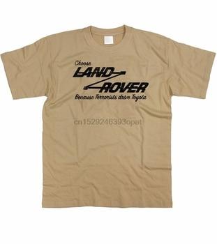 Camiseta para hombres elige a Landrover porque Toyota charisters divertida Rival S - 5XL