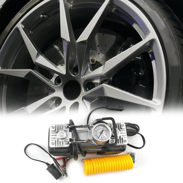 Pompe de gonflage de pneus | 2019 12V 150 psi, Portable robuste durgence, 2 cylindres de voiture, pompe universelle pour camions de bicyclette