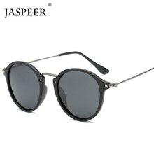 JASPEER Round Rivet Men Sunglasses Luxury Brand Small Frame Black Sun Glasses Women Alloy Vintage Retro Sexy Shades Goggle Oculo