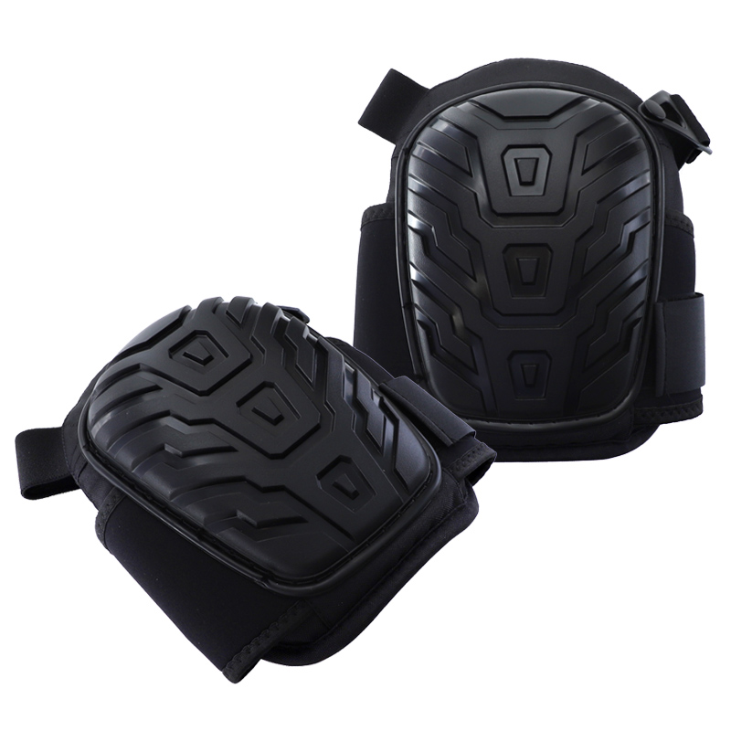 Knee Protector Heavy Duty PVC Shell  Knee Pads for Work Safety Kneepads With Foam Padding Gel Cushion Flexible Straps