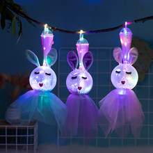 Cute Fairy LED Lamp Toy Children Bedroom Night Light Portable Hanging Birthday Party Decor Lamp Baby Singing Glowing Lantern(China)