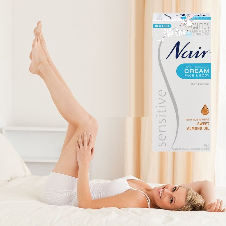 Original Australia Nair Sensitive Hair Removal Cream For Face Leg Bikini Area Under-Arms Skin Gentle Cream For Hair Remover Men
