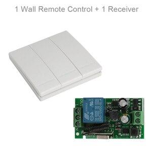 Image 1 - QIACHIP 433 Mhz 86 ألواح للحائط RF الارسال التحكم عن بعد التبديل 433 Mhz RF التتابع اللاسلكية التيار المتناوب 110 فولت 220 فولت 1 CH وحدة الاستقبال