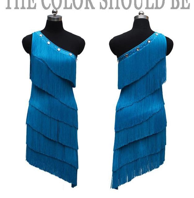 Женское платье для латиноамериканских соревнований, танцевальное платье с одним открытым плечом в европейском стиле, юбка с бахромой для латиноамериканских соревнований, новинка 2021