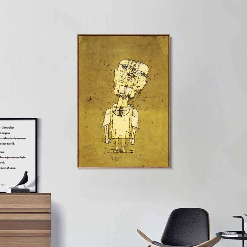 Gespenst eines Genies Von Paul Klee Ölgemälde auf Leinwand Poster und Drucke Wand Kunst Bild Für Zimmer