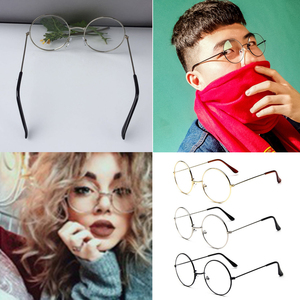 Fashion Vintage Retro Metal Frame Clear Lens Glasses Nerd Geek Eyewear Eyeglasses Oversized Round Circle Eye Glasses