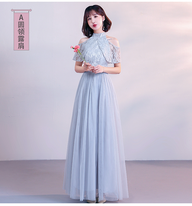 Gray Plus Size Bridesmaid Dress Elegant Long Dress For Wedding Party Sleeveless A-Line Prom Floor Length Champagne Vestidos