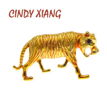 CINDY XIANG Enamel Tiger Brooches For Women Animal Pin Vivid Design Fashion Jewelry 3 Colors Choose High Quality New 2020
