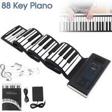 88 клавиш usb midi выход свернутый перезаряжаемый электронный