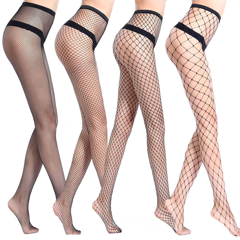 Women's Sexy Stockings Mesh Hollow Stretch Bottoming Fishnet Stockings Erotic Tights Medias De Mujer Female Pantyhose Kabaretki