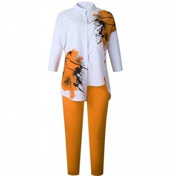 Conjuntos africanos de 2 piezas para mujer, pantalones holgados con estampado africano,...