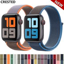 Correa para apple watch banda 44mm/40mm deporte bucle iwatch banda 5 42mm 38mm correa pulseira apple watch 5 3 4 banda correa de nylon(China)
