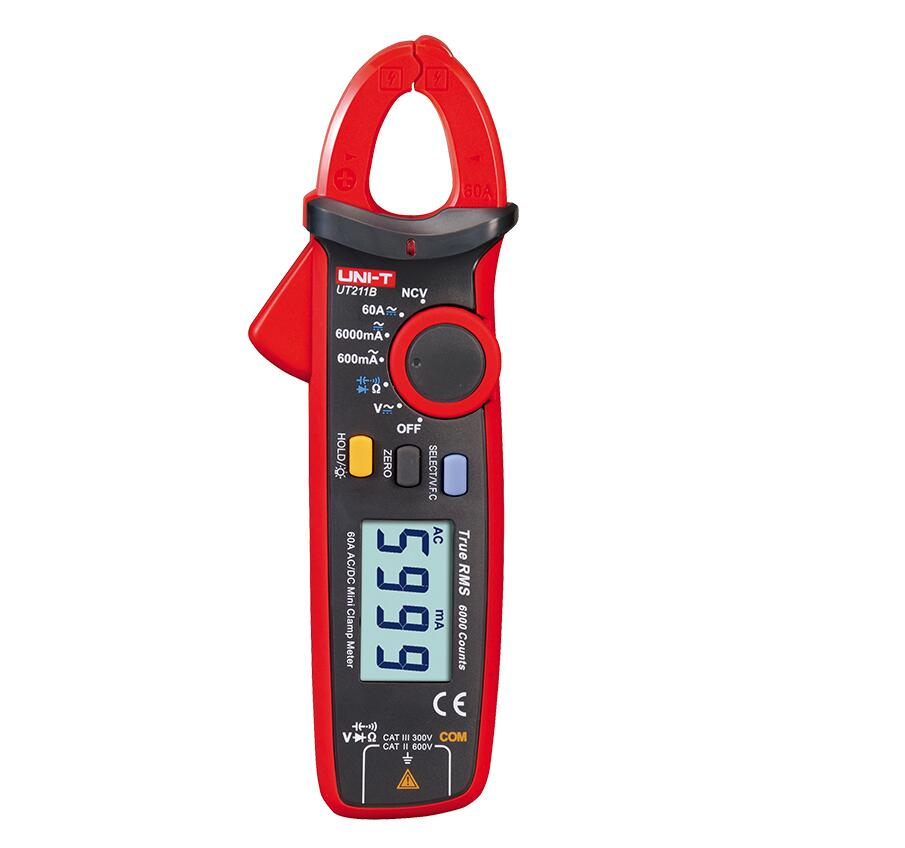 Clamp True Mini AC UNI Test NCV LCD DC 60A  RMS UT211B Ammeter Backlight Digital F Capacitance C Meters T V   Resistance
