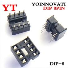 600pcs 8pin DIP IC 소켓 어댑터 솔더 유형 8 핀 8 P 플랫 피트