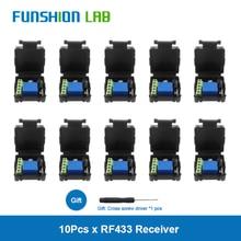 цена на FUNSHION DC 12V 1 CH Wireless Remote Control Relay Switch Module Learning Code DC 12V RF Superheterodyne Receiver 1CH Controller