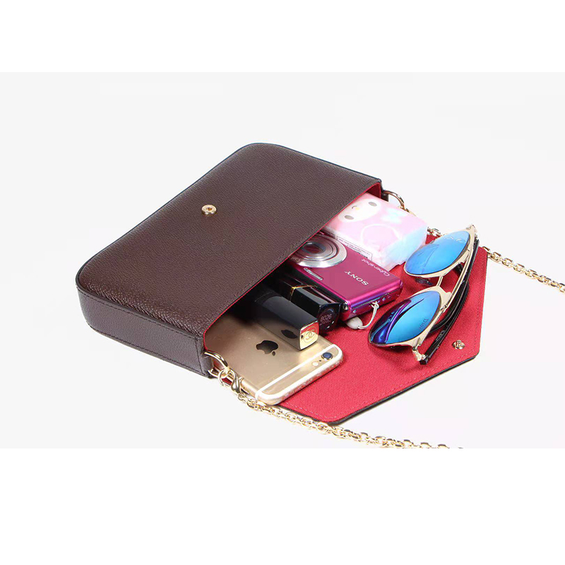 purses and handbags luxury designer  Three in one women wallets  women's chain  wallet AAA high quality Leather Wallet  with box