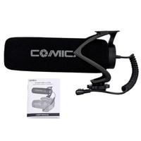 Comica Cvm V30 Lite Microphone with Super Cardioid Polar Pattern Cold Shoe Design Condenser Mic for Smartphone Camera Black
