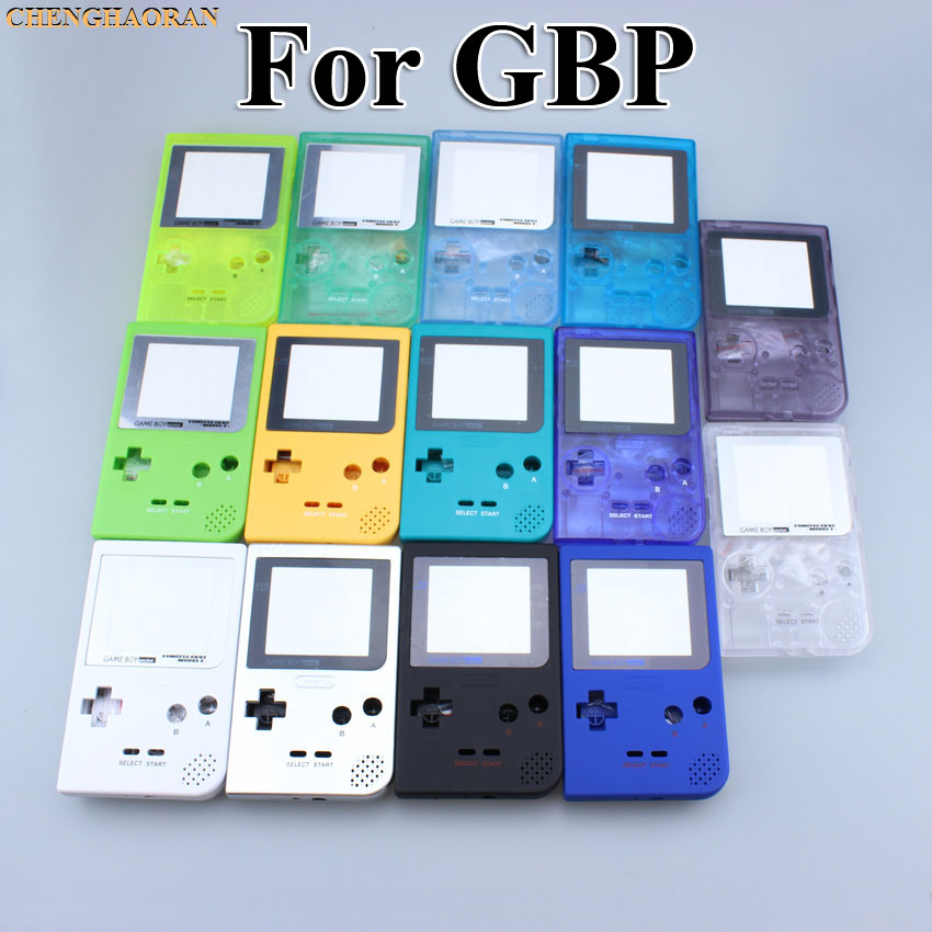 ChengHaoRan 16 color choose for Nintendo Gameboy Pocket Housing Shell Case replacement for GBP Shell Case Cover with Buttons Kit