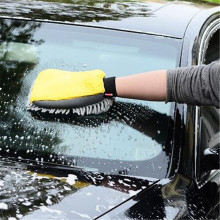 Car Wash Glove Coral Mitt Soft Anti scratch for Car Wash Multifunction Thick Cleaning Glove Car Wax Detailing Brush Color Random