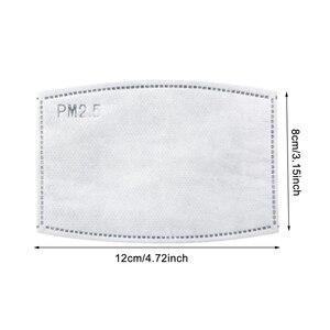 Image 5 - 10pcs מסכת מסנני אבק הוכחה פנים מסכת מסנני מתכוונן ושימוש חוזר הגנה עם 10 מסנני מסכות
