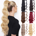Длинный голливудский конский хвост MERISI, накидка на хвост, синтетический конский хвост, зажим для волос, светлый хвост для женщин