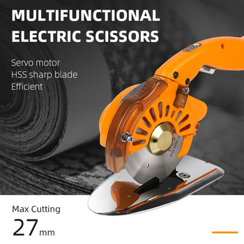 Industrial Tailor Electric Scissors Shears Cloth Cutter Fabric Cutting Machine Kit Tools For Clothes Leather 220V - discount item  30% OFF Hand Tools