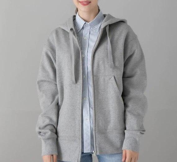 Women's  Sweatshirt Jacket Autumn And Winter Long Sleeve Zipper Jacket Cotton Solid Color Men And Women Coat