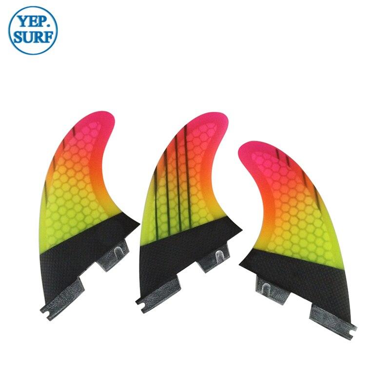 Surf Tri Fin Set FCS2 G7 FCS Ii G7 Surfing Fins For Surfboard Sup Board Fiberglass Honeycomb
