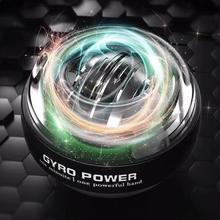 Auto-partida powerball potência de pulso mão bola muscular relaxar girando instrutor de pulso exercício equipamento strengener com luz led