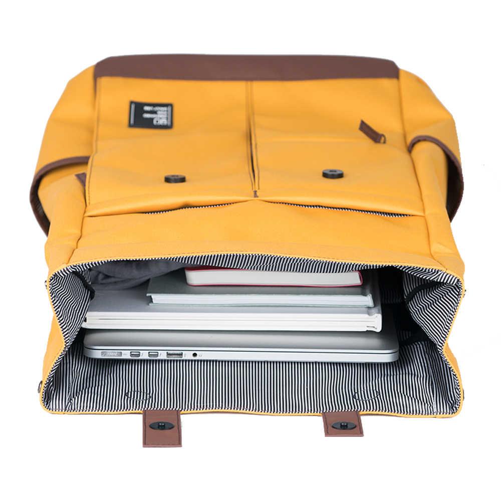 Ninetygo 90Fun Trường Cao Đẳng Thiếu Niên Ba Lô Laptop Thời Trang Giải Trí Chống Nước Bagpack Unisex Cổ Máy Tính Học Năm 14/15.6 Inch