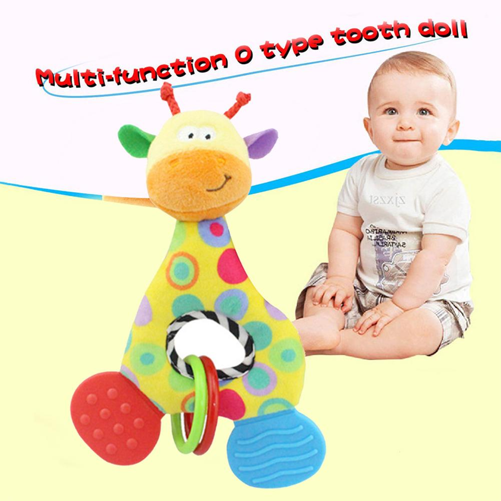 Infant Baby Rattle Animals Hand Grasp Appease Spinning Lovely Giraffe Handle Turn Bead Ringing Developmental Infant Toy