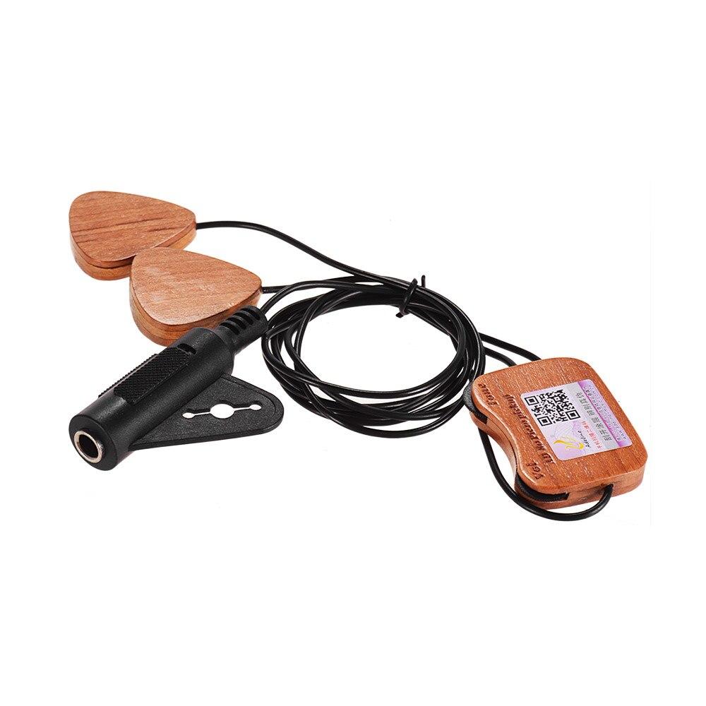Adeline AD-80 auto-adhésif en bois guitare pick-up transducteur 3 micros pour acoustique classique Folk guitare ukulélé violon