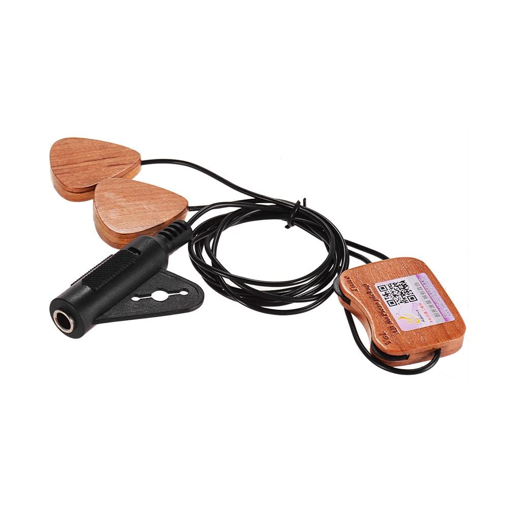 Adeline AD-80 capteur de ramassage de guitare en bois auto-adhésif 3 micros pour guitare Folk classique acoustique ukulélé violon