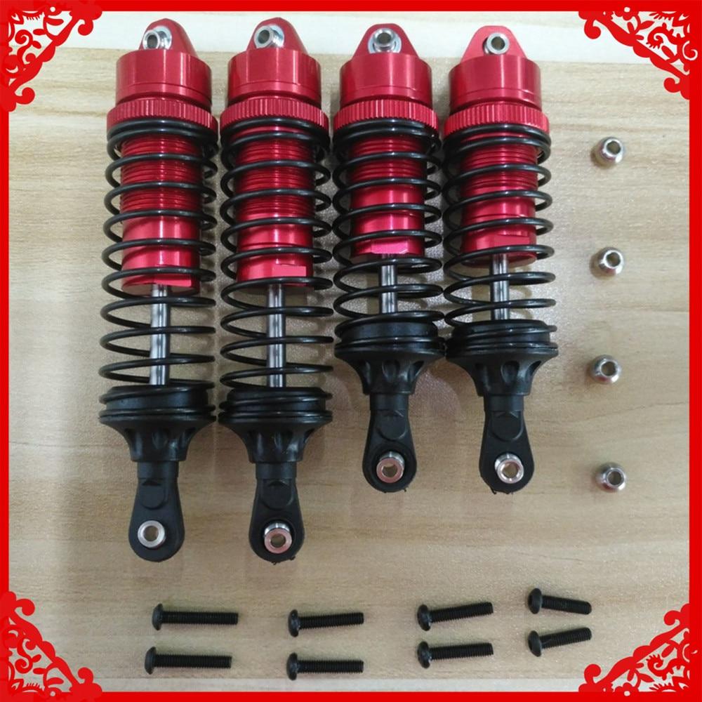 4 Pcs/set Alloy Front&rear Shock Absorber Damper Oil Fill Type 5862 For Rc Model Car 1/10 Traxxas Slash 2WD Short Course Parts