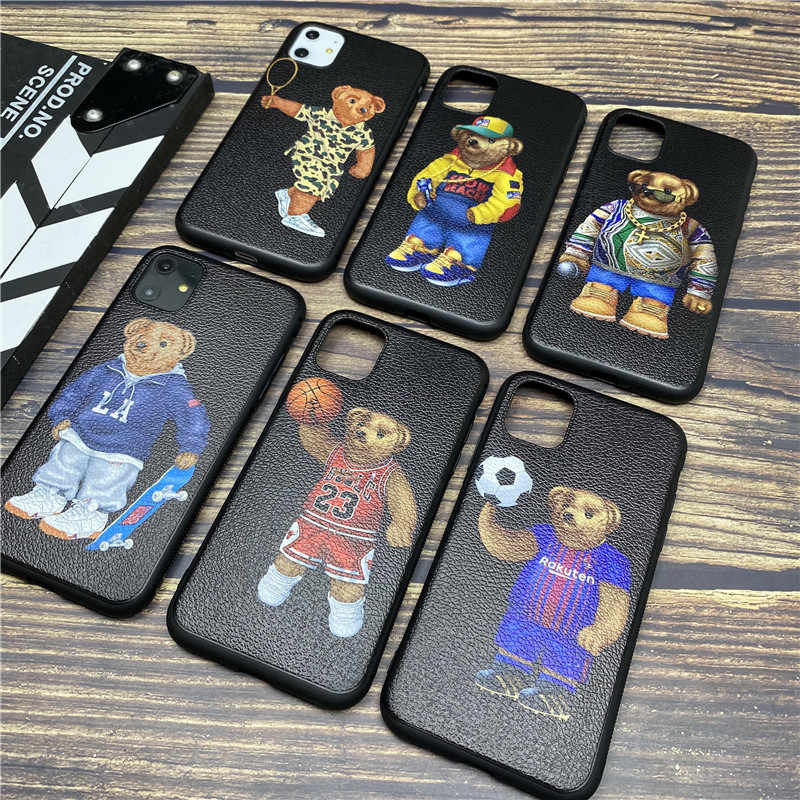 Luxury brand Bear GG soft case for iphone 11 pro x xs max xr 8 76 q50