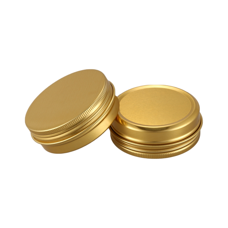 Hot Sale 10Pcs Cans Screw Top Containers Aluminum Round Cans Travel Tins Storage Jar Food Tins Containers Tins With Lids,Gold