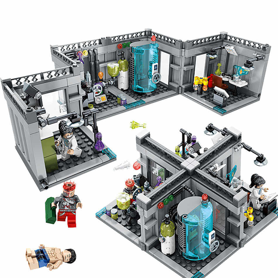 Kids Love City Police Biochemical Lab Series Legoed Model Building Blocks Technic Classic Figures Enlighten Bricks Toys