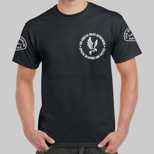 Los Angeles Police LAPD SWAT TV S.W.A.T. Logo Black T-shirt USA Size(China)