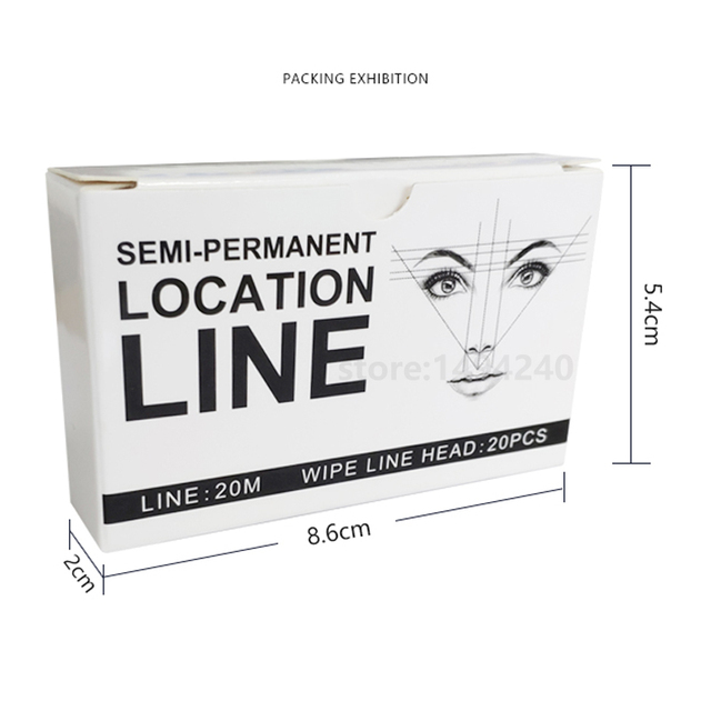 20m Brows Mapping Strings NO Pre-Ink Microblading eyebrows Positioning Tools PMU accessories each box Contains 65 ft of string 2