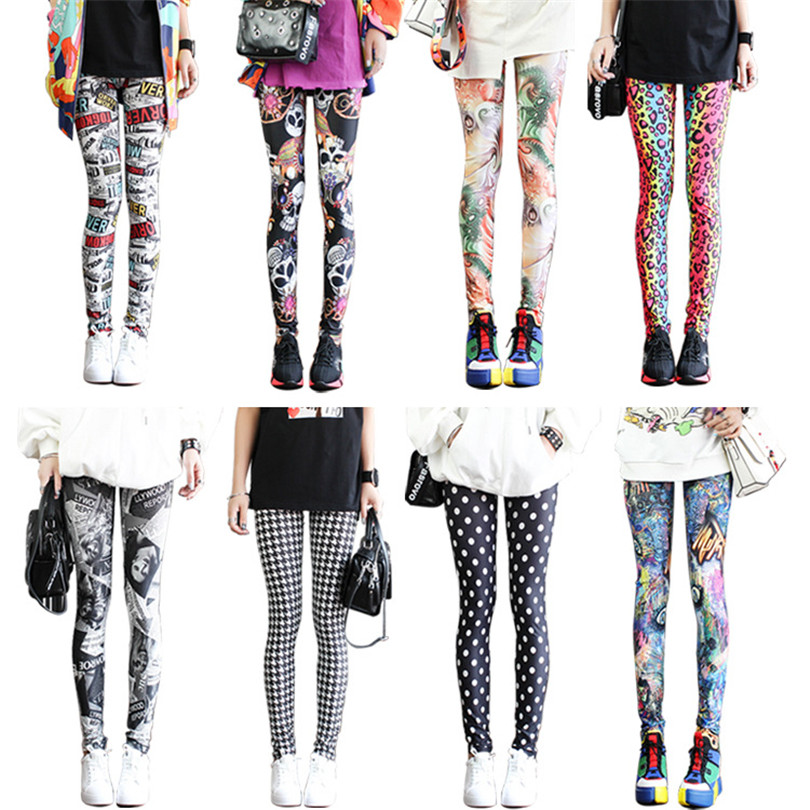 VISNXGI Leggings Floral Graffiti Patterned Print Leggins Fitness Leggings Sport Leggings Gym Pants Graffiti Print Plus Size XXXL