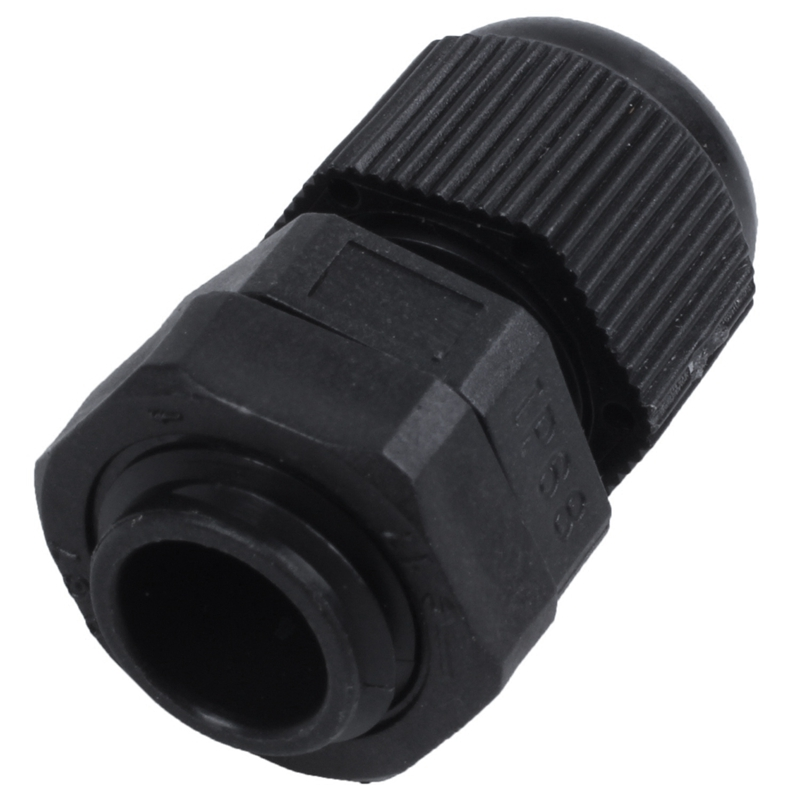 20Pcs Waterproof Adjustable PG7 3.5-6mm Cable Gland Joints Black White image