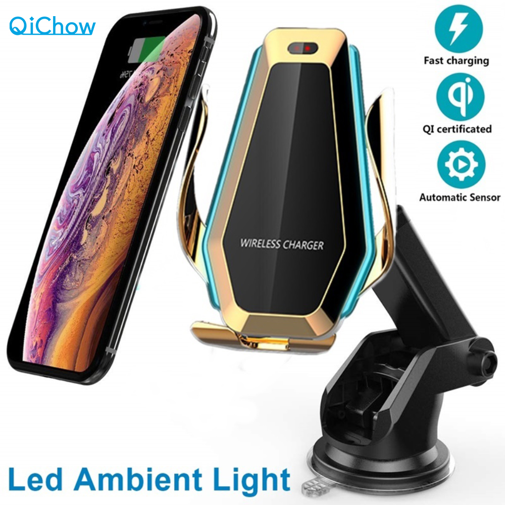 10W Car Fast Qi Wireless Charger For IPhone X 8 XS  Max Automatic Clamping Car Phone Air Vent Holder For Samsung S10 S9 S8