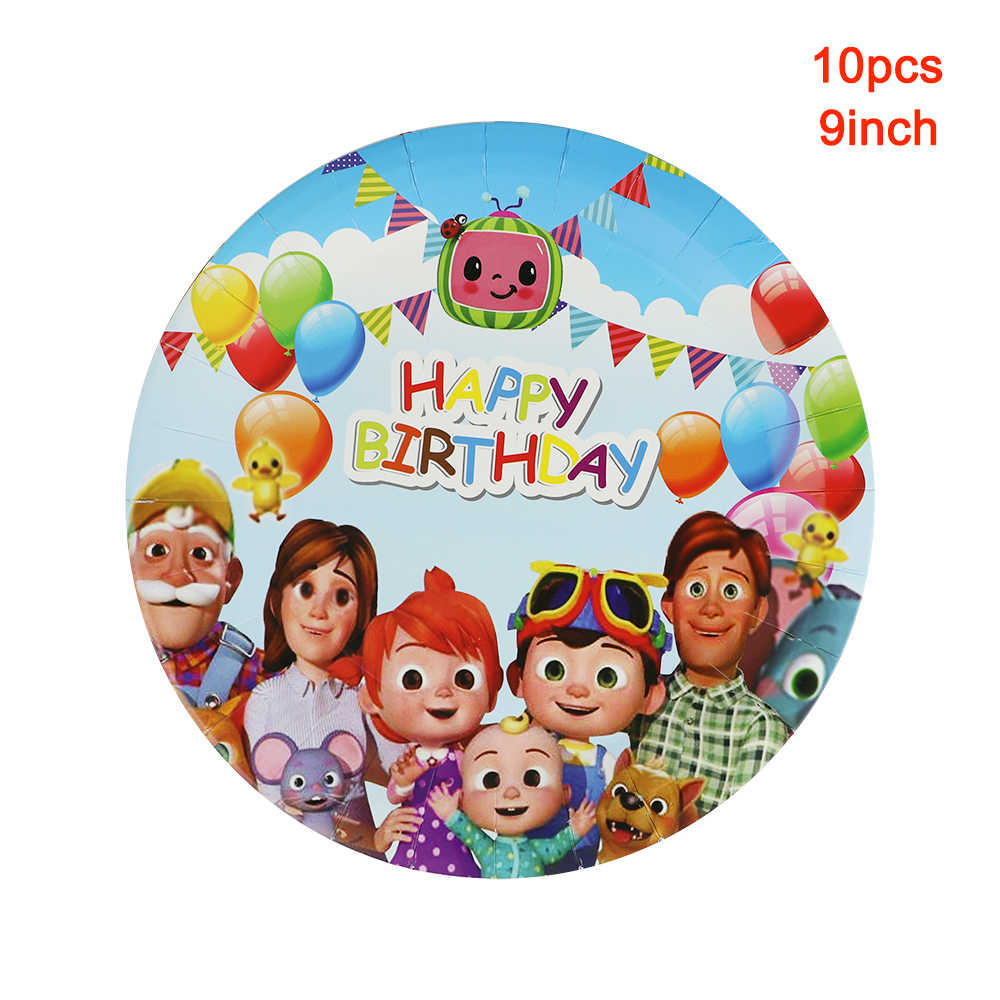 40pcs Cocomelon Party Napkins for Baby Shower Cocomelon Themed Birthday Party Supplies for Kids Cocomelon Birthday Party Decorations