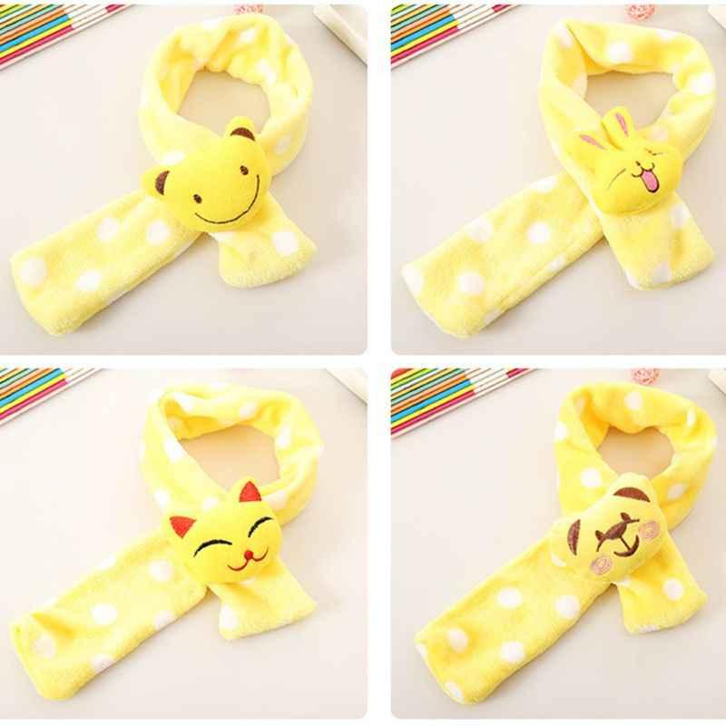 Del bambino Del Bambino Dei Bambini di Inverno Della Sciarpa Della Peluche Carino 3D Bambola Animale Luminoso di Colore Della Caramella Collo