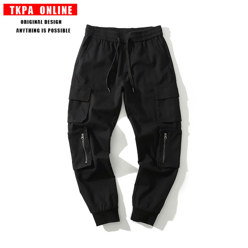 TKPA Origional American-Style High Street Fashion Men's Cool Function Multi-pockets Loose-Fit Jogging Beam Leg Workwear Casual P
