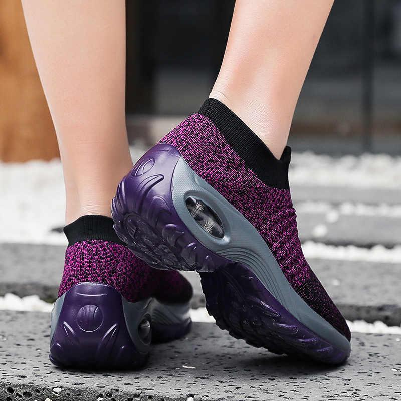Kobiety obuwie moda oddychająca siatka do chodzenia zasznurować płaskie buty trampki damskie 2019 Tenis Feminino różowy czarny biały